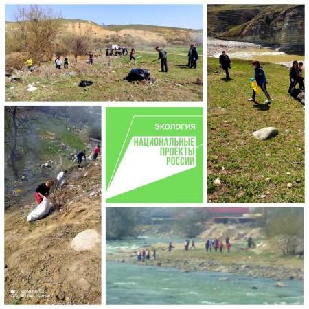 В Баксанском районе расчищают русла рек