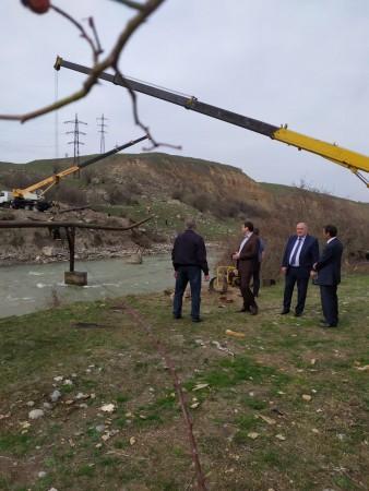 В Баксанском районе проверили ход работ на арычном канале