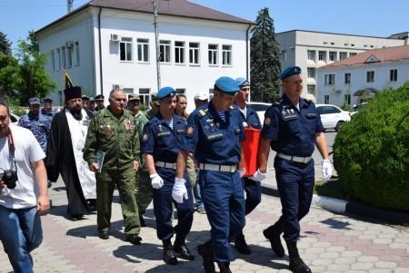 В Волгоградской области перезахоронили останки солдата Красной армии, найденные поисковиками в Кабардино-Балкарии