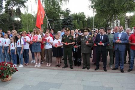 Росгвардейцы приняли участие во всероссийской акции «Свеча памяти»